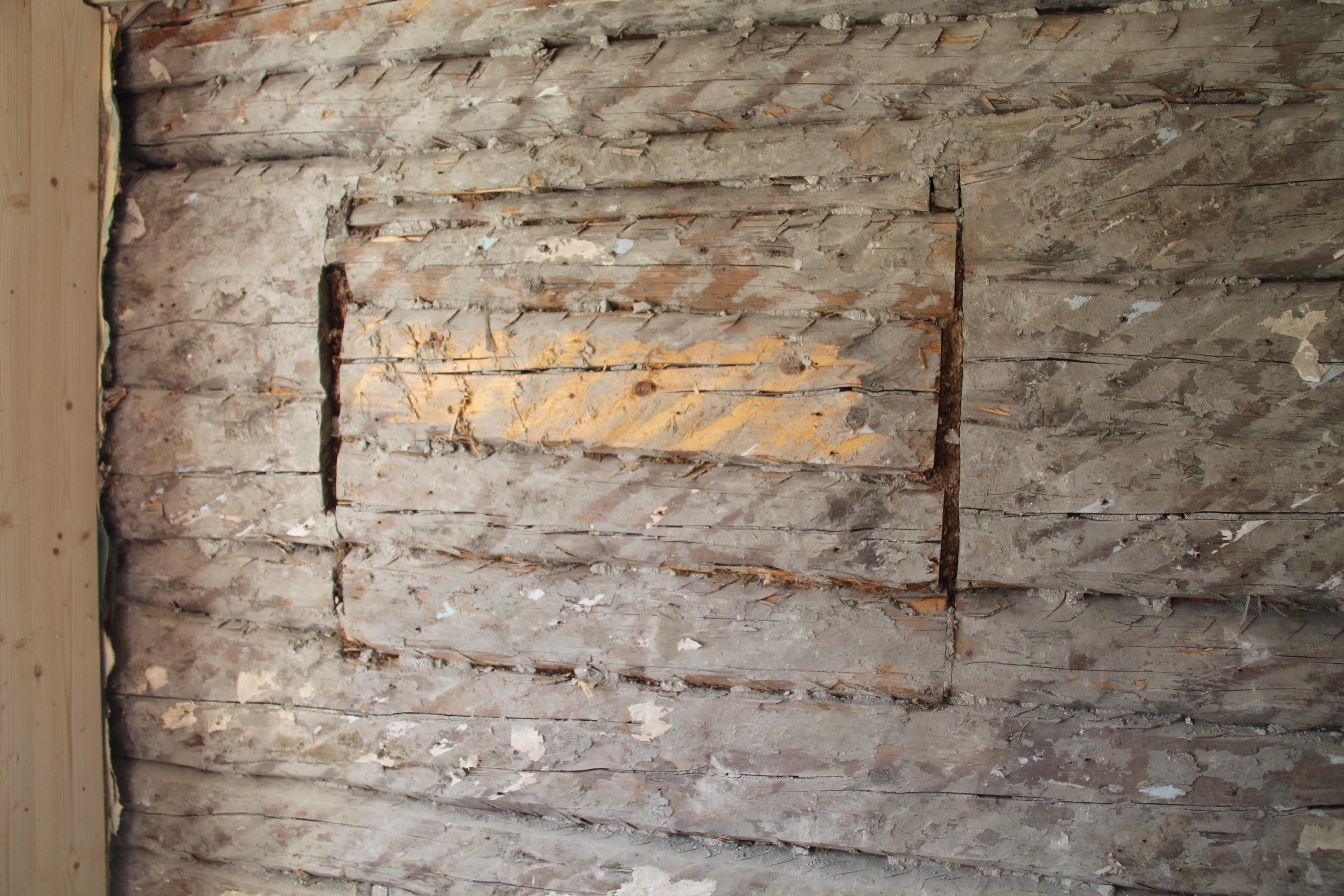 råte i tømmervegg etter isolering